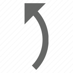 back, rotate, turn, up, upload icon
