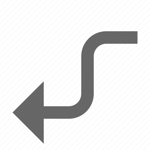 arrow, back, bend, direction, left, turn, west icon