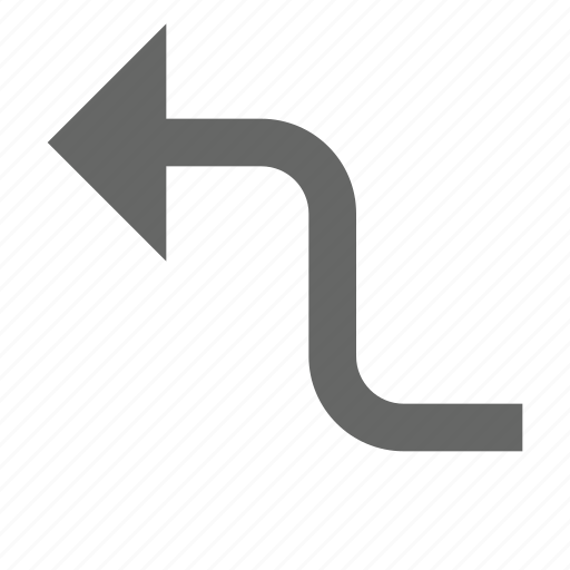 arrow, back, bend, direction, left, previous, turn icon
