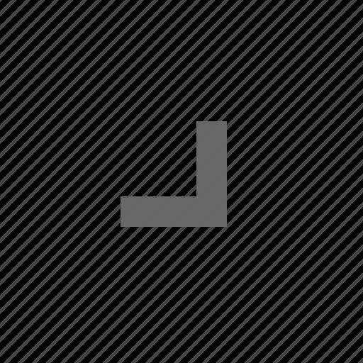 bottom right, chevron, corner, direction, down right, southeast icon