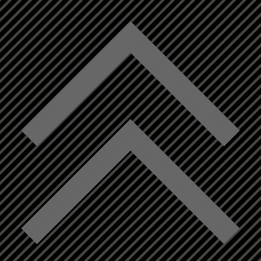 chevron, direction, north, top, up, upload icon