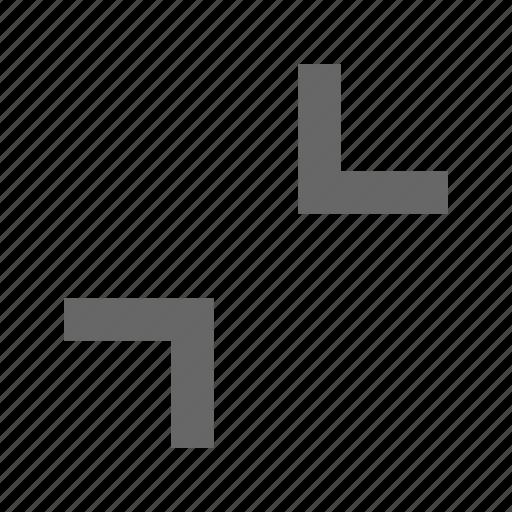 chevron, collapse, corners, direction, exit fullscreen, minimize icon