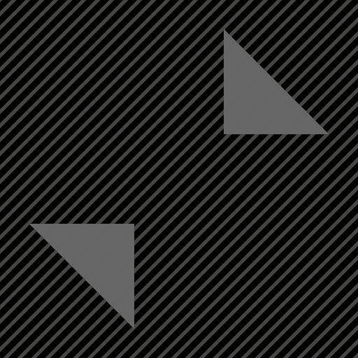collapse, condense, exit fullscreen, minimize, shrink, triangle icon
