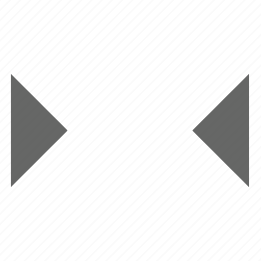 center, collapse, condense, middle, triangle, width icon