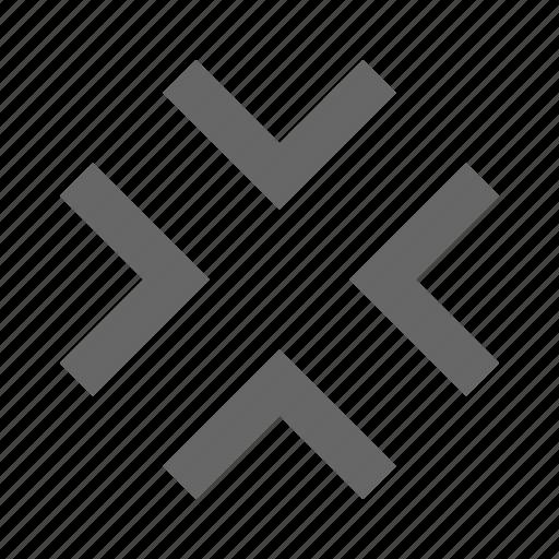center, chevron, collapse, condense, exit fullscreen, middle, minimize icon