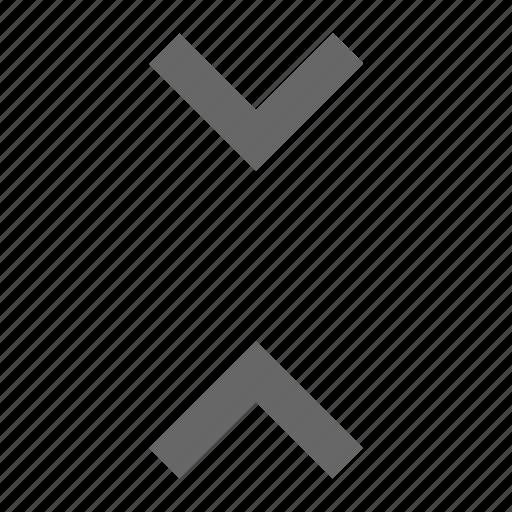 center, chevron, collapse, condense, height, middle icon