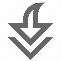 arrow, bottom, down, download, save, south icon