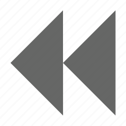 back, left, media, multimedia, previous, rewind icon