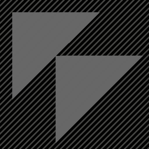 corner, diagonal, direction, northwest, top left, triangle, up left icon