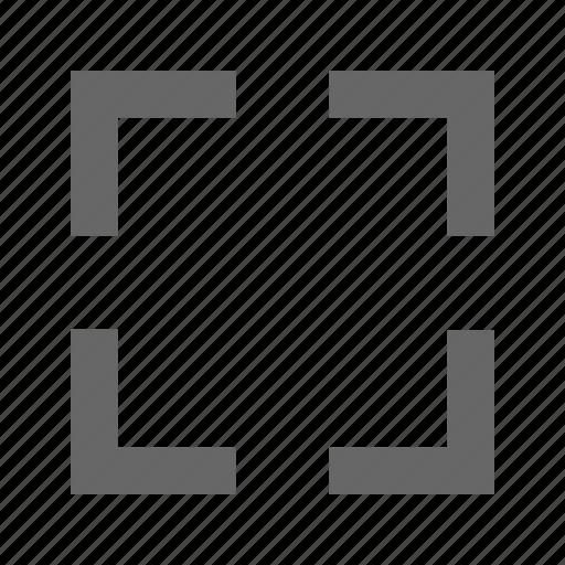 chevron, corners, expand, fullscreen, maximize, move icon