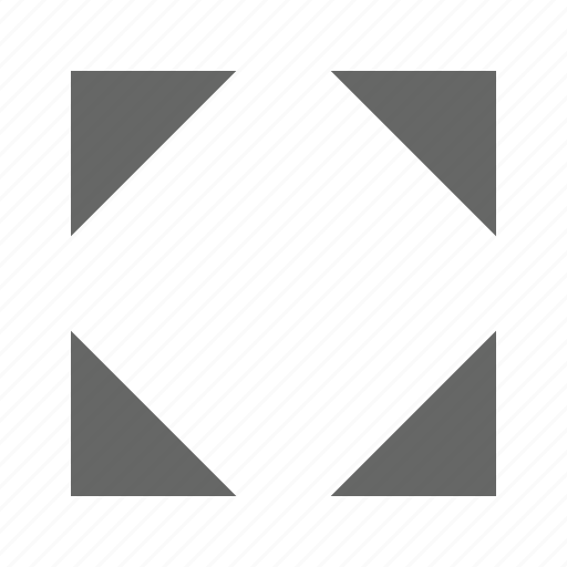 direction, expand, fullscreen, move, position, resize, triangle icon