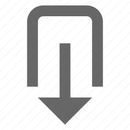 bottom, down, download, export, guardar, save, share, transfer icon