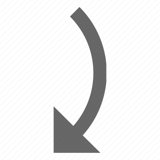 down, forward, rotate, turn icon