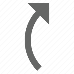 arrow, direction, forward, rotate, top, turn, up icon