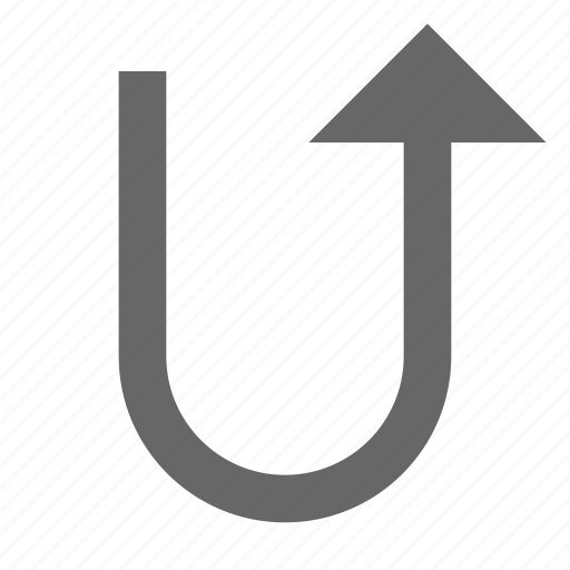 arrow, direction, top, turn, up, upload icon