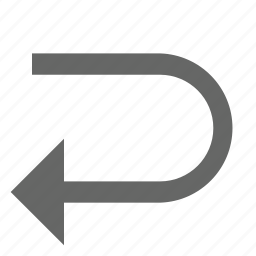 arrow, back, direction, left, previous, reverse, turn icon