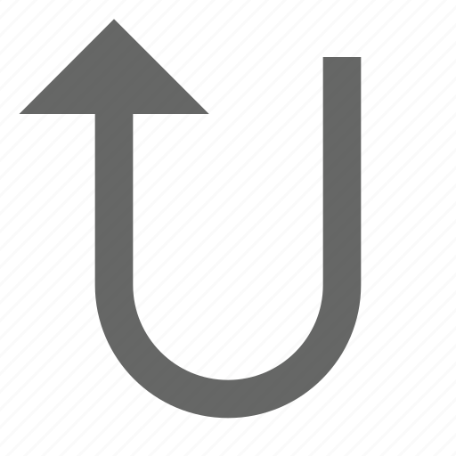 arrow, direction, north, top, turn, up, upload icon