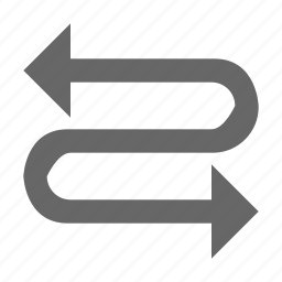 arrow, direction, left right, snake, zag, zig icon