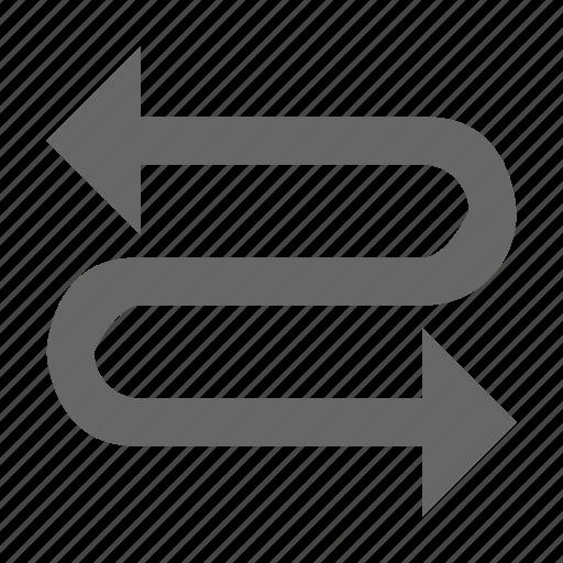 arrow, direction, left right, snake, zag, zig icon