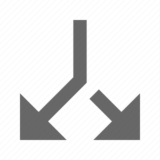 arrow, break, direction, diverge, separate, split icon