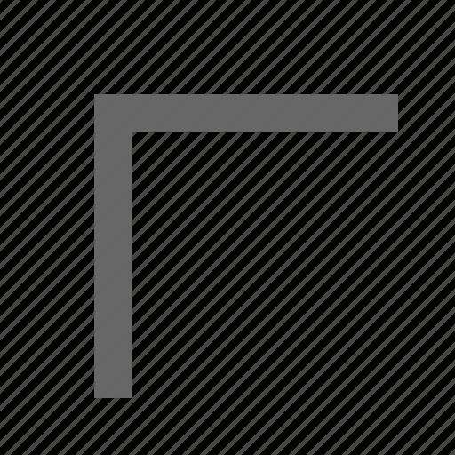 chevron, corner, direction, northwest, top left, up left icon