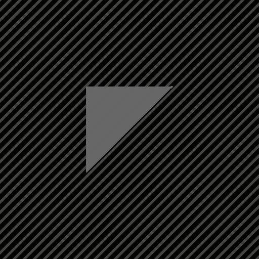 corner, direction, northwest, top left, triangle, up left icon