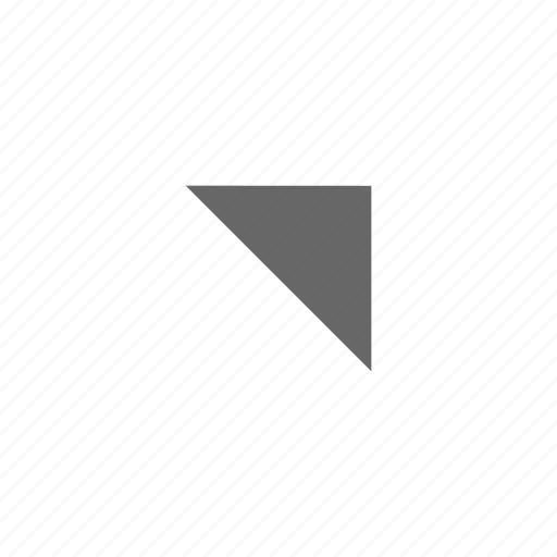 corner, direction, northeast, top right, triangle, up right icon