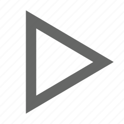 continue, media, multimedia, next, play, right, triangle icon