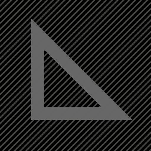 bottom left, corner, direction, down left, southwest, triangle icon