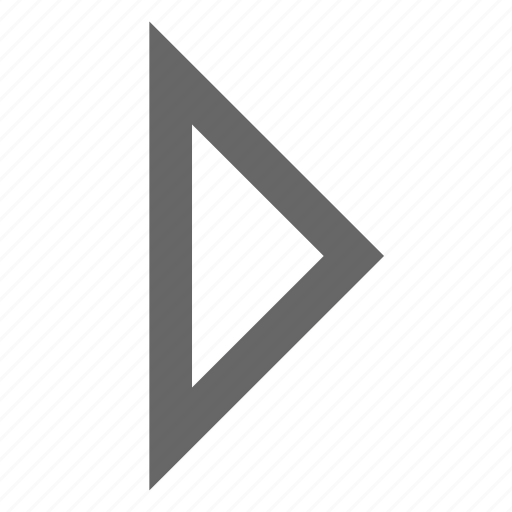 direction, east, forward, next, right, triangle icon