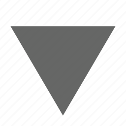 bottom, direction, down, download, guardar, save, south, triangle icon