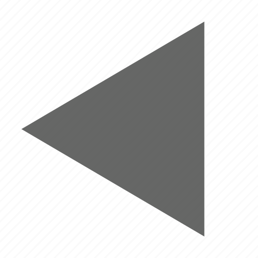 back, direction, left, previous, reply, triangle, west icon