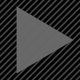 continue, media, next, play, right, send, triangle icon