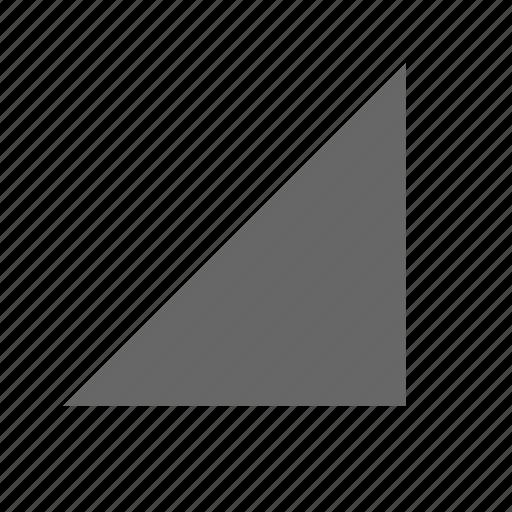 bottom right, corner, direction, down right, southeast, triangle icon
