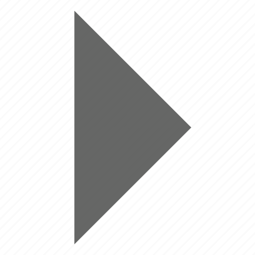 direction, east, forward, next, play, right, triangle icon