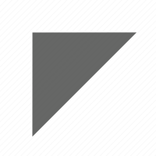 corner, direction, north west, top left, triangle, up left icon