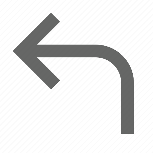 arrow, back, direction, left, previous, reply, turn icon