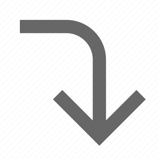 arrow, direction, down, download, guardar, save, south, turn icon