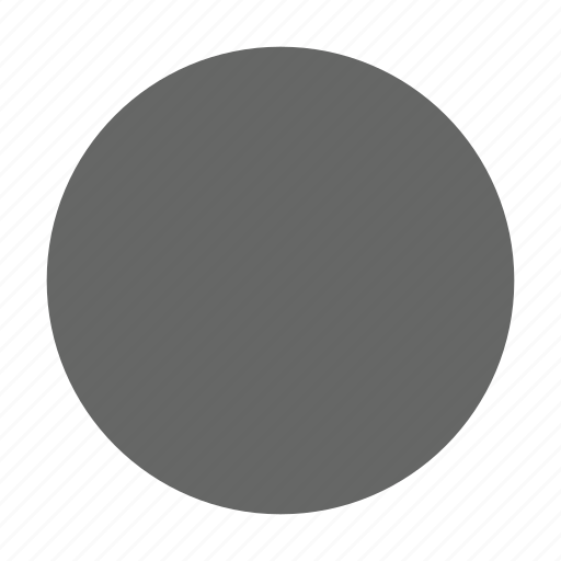 circle, radio button, round, select, shape, solid, unselected icon