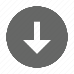 arrow, bottom, direction, down, download, save, south icon