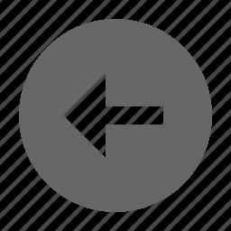 arrow, circle, left, solid icon