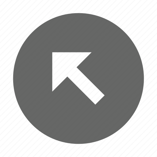 arrow, diagonal, direction, navigation, northwest, top left, up left icon