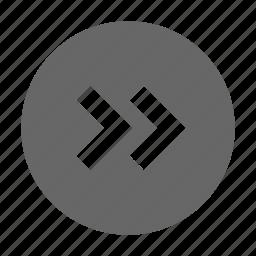 chevron, direction, east, forward, next, right icon