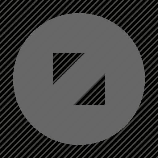 corners, expand, fullscreen, maximize, size, triangle icon