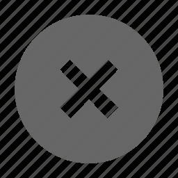 close, cross, delete, error, exit, remove, warning icon