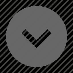 bottom, chevron, down, download, south icon