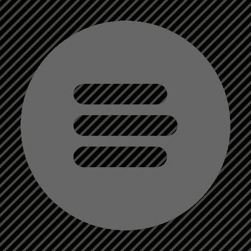 hamburger, list, menu, navigation, options, preferences, sidebar icon