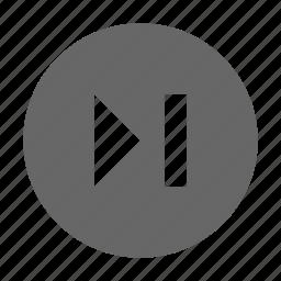 circle, next, skip, solid icon