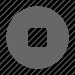 media, multimedia, pause, square, stop icon