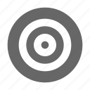 aim, bullseye, center, target icon